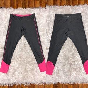 Champion XL Gray Hot Pink Cropped Leggings